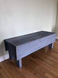 Rustic Barn board Solid Wood Bench