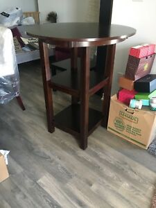 Solid Wood Pub Table