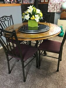 Round Wood Table & Chair Set