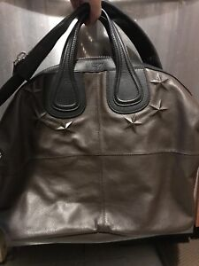 Givenchy star embossed nightingale bag brown