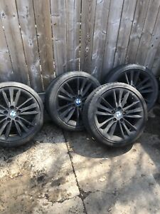 Steel black coated rims for bmw for $ale
