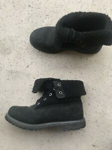 Timberlands roll up winter boots bottes
