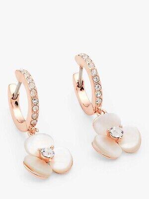 Kate Spade New York Flower Charm Hoop Earrings Rose Gold