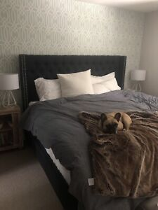 King fabric bed frame