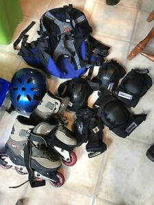 patins roues alignées (rollerblade), support à rouleau