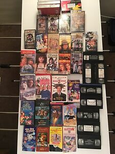 Various Cartoons / Family Movies on VHS tapes