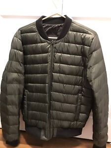 Men's size small down bomber jacket