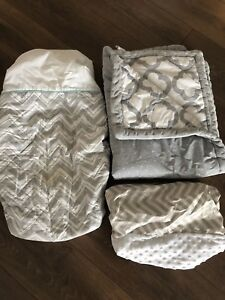 Changing pad covers and crib blanket