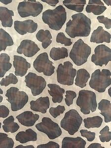 Leopard print sheer curtains with rings
