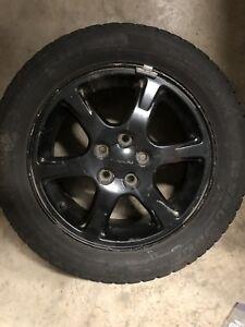 "15"" Subaru Rims with Winter Tires 5x100"