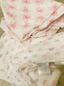 Aden and Anais Muslin swaddles 100% cotton