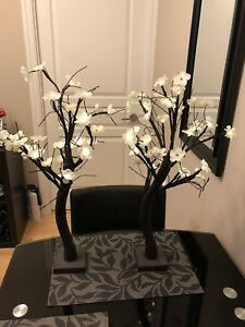 Lighted Cherry Blossom Trees Table Decor