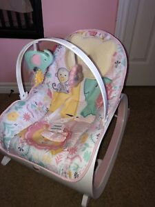 Baby rocker that has vibration option for sale