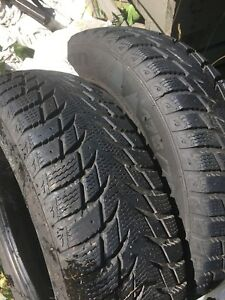 2 solid tires 175/70/14