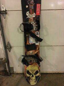 Ghost rider marvel comics snowboard with bindings