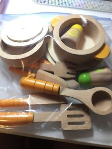 Hape wood cooking toy for kids