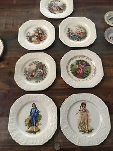 Antique china plates, platters, cups etc.
