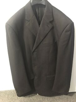 108R chocolate brown pin stripe suit