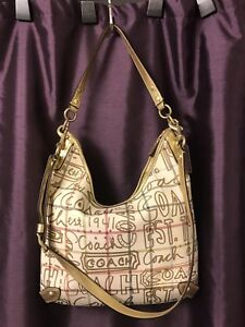 Golden Multicolor Stunning Authentic Coach purse