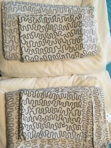 Two single duvets with covers