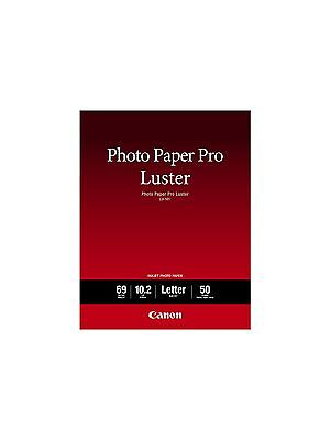Canon Pro Luster Inkjet Photo Paper, 8.5-Inch X 11-Inch, White, 50 Sheets/Pack