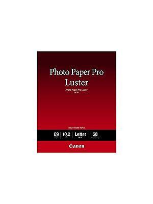 50 SHEETS Canon Photo Paper Pro Luster 8.5 x 11 Printer Art Portrait Photography