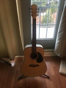 All white acoustic guitar for sale