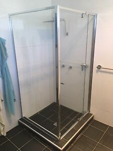 Shower screen 1000x1000x1900h chrome Bossley Park Fairfield Area Preview