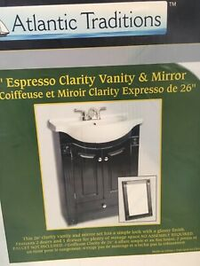 Vanity with mirror- new in the box