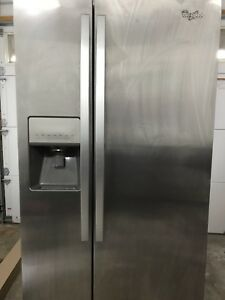 Whirlpool Stainless Steel Refrigerator - 1 Year Old