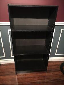 Black bookcase $20