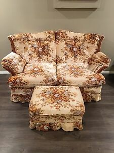 Matching Love seat and Footstool