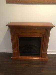 Fireplace and picture frame