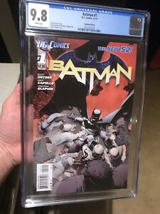 Batman New 52 #1, 1st, 2nd, 3rd, 4th and 5th print graded!!