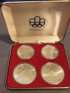 RCM - 1976 Montreal Olympic 4 coins silver set