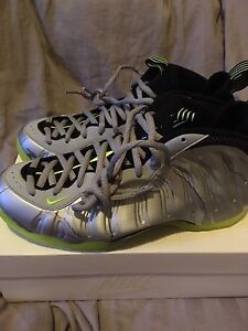 Air Foamposite sz10.5 Silver Camp