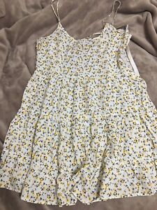 H&M yellow floral flower dress
