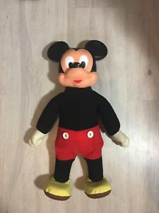 Vintage Marching Mickey Mouse 18 Inch Tall Figure Doll Disney