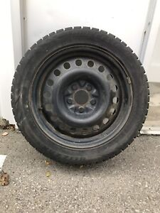 215/55/R17 5 Bolt Bridgestone Blizzak Rims and Tires