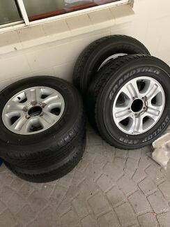 Toyota Landcruiser 17 inch wheels with tyres Mount Sheridan Cairns City Preview