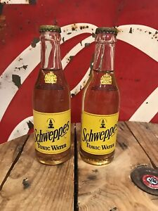 2 bouteilles Schweppes