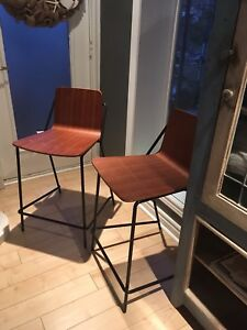 2 counter height stools - new with tags