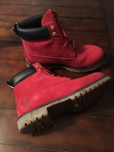 "Timberland 6"" Limited Edition Red Boot -Size 13"