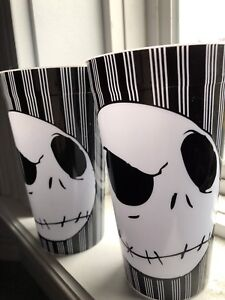 Plastic Jack Skeleton cups x2  *never used*
