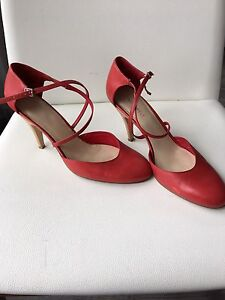 Great Red leather shoes