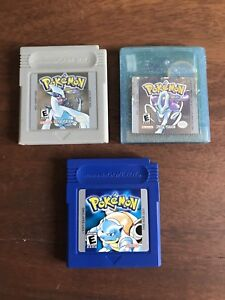 Pokémon games for Nintendo gameboy - silver, crystal and blue