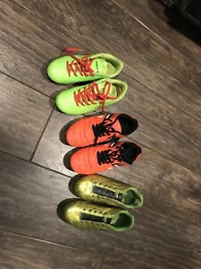 Soccer and baseball shoes all size 1