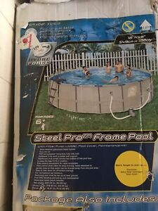 hydro force steel pro frame pool set 18 ft x48 plus more!