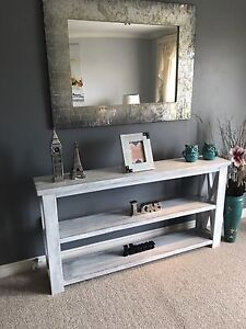 Handcrafted rustic sofa/ console / entryway table