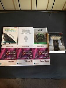 Fanshawe Business Accounting books and calculator